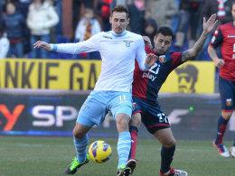 Ein gebrauchter Tag für Miro Klose: Mit Lazio in Genua verloren und eine Knöchelverletzung erlitten.