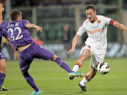 Siegte mit der Roma im Verfolgerduell bei der Fiorentina: Roma-Kapitän Totti.