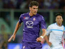 Fiorentina-Stürmer Mario Gomez feierte gegen Catania einen 2:1-Erfolg, blieb aber torlos.