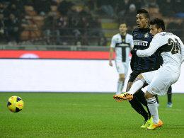Zweifacher Torschütze im Spiel bei Inter Mailand: Parmas Nicola Sansone.