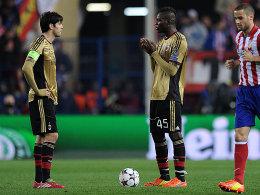 Milans Kaka und Mario Balotelli (v.l.)