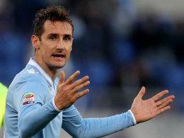 Entspannung? Die Situation von Miro Kloses Lazio ist nach dem Sieg etwas verbessert.