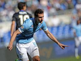 Miroslav Klose jubelt gegen Parma