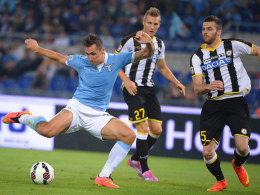 Miroslav Klose beim Heimspiel gegen Udinese Calcio