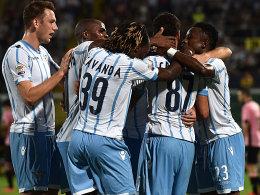 Erleichterung im Lazio-Lager nach dem 4:0-Befreiungsschlag.