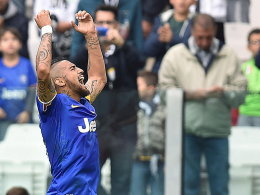 Leader: Vidal brachte Juve auf die Siegerstraße.