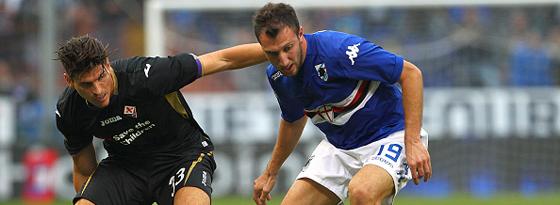 Missglücktes Comeback: Mario Gomez und seine Fiorentina unterlagen bei Sampdoria Genua.