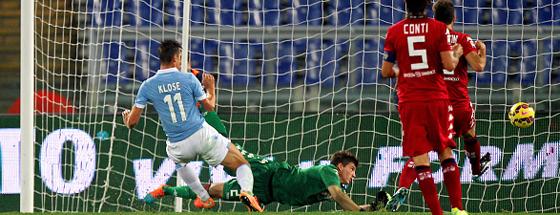 Durfte gegen Cagliari von Beginn für Lazio an ran und traf doppelt: Miroslav Klose.