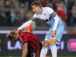 Ein Tor, eine Vorlage: Lazio dreht dank Miroslav Klose die Partie gegen Milan.
