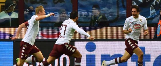 Ausgelassener Jubel: Emiliano Moretti (re.) freut sich über sein Tor in der Nachspielzeit bei Inter.