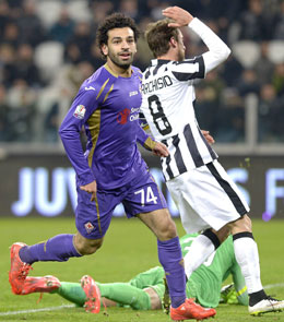 Matchwinner f�r Florenz: Salah traf zwei Mal bei Juventus.