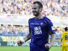 Gomez-Konkurrent trifft: Alberto Gilardino erzielte das 2:0 für Florenz gegen Parma.
