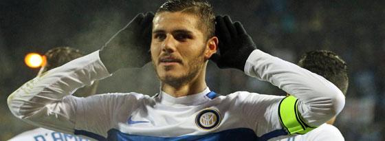 Inters Matchwinner bei Empoli: Mauro Icardi besorgte den 1:0-Siegtreffer.