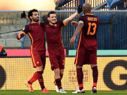 Mohamed Salah, Alessandro Florenzi und Maicon