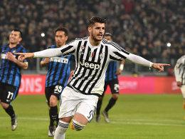 Doppelpack gegen Inter: Alvaro Morata.