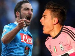 Gonzalo Higuain (SSC Neapel) und Paulo Dybala (Juventus Turin)