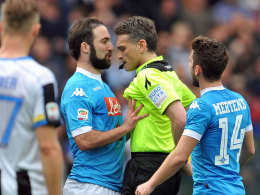 Vier Spiele Sperre f�r Higuain: Napoli protestiert