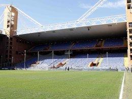Spielabsage! Sampdoria vs. Roma fällt ins Wasser