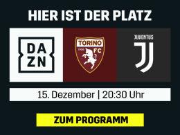 Derby della Mole: Torino fordert Juventus - live bei DAZN