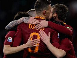Viertelfinale erreicht: Roma dankt Nainggolan