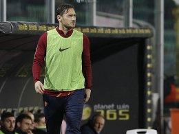 Totti lässt sich nicht einwechseln