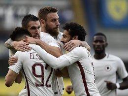 Tore satt in Italien: 5:3 Roma, 4:1 Napoli