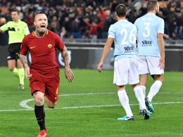 Dank Doppelschlag: Roma gewinnt Derby gegen Lazio