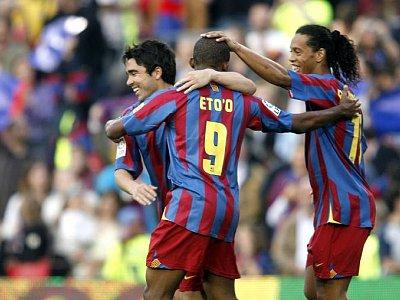 Deco, Eto'o und Ronaldinho