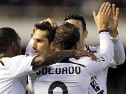 Roberto Soldado lässt sich gegen Malaga feiern