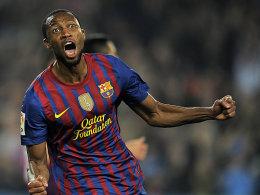 Ein sehensweiter Treffer von Seydou Keita brachte den FC Barcelona wieder auf die Siegerstraße.