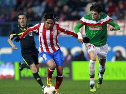 Warnzeichen Richtung Hannover: Falcao erzielte einen Doppelpack für Atletico Madrid.