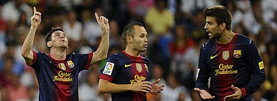 Messi, Iniesta und Piqué