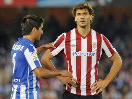 Fernando Llorente (re., mit Real Sociedads Markel Bergara)