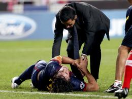 Pechvogel: Barcelonas Kapitän Carles Puyol hat sich erneut schwer verletzt.