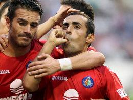 Elfmeter verwandelt, Punkte gesichert: Getafes Diego Castro freut sich.