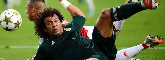 Schmerzhafte Sache: Real Madrids Linksverteidiger Marcelo brach sich bei der Selecao den Fuß.