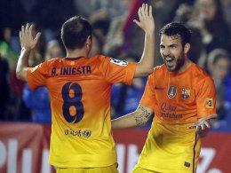 Iniesta und Fabregas