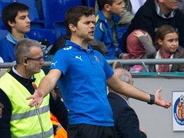 Hilflos: Mauricio Pochettino beim 0:2 am Wochenende gegen Getafe.