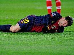 Messi macht leichte Übungen im Kraftraum