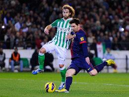 Jose Canas gegen Lionel Messi