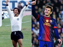 Gerd Müller und Lionel Messi