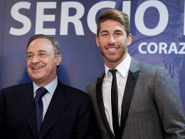 Langzeit-Ehe: Sergio Ramos und Real-Präsident Florentino Perez.