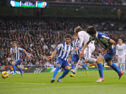 Da schien sich das Blatt zum Guten zu wenden: Fabio Contrao machte das 2:1 gegen Espanyol, doch am Ende sprang für die Madrilenen nur ein 2:2 heraus.