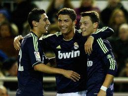 Machten kurzen Prozess mit Valencia: Real Madrid mit di Maria, Ronaldo und Özil.