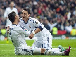 Cristiano Ronaldo und Mesut Özil