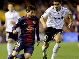 Erzielte vom Punkt seinen 34. Saisontreffer: Lionel Messi. Zum Sieg reichte es für Barcelona diesmal aber nicht.