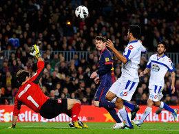 Serienknipser: Lionel Messi trifft auch im 17. Ligaspiel in Folge.