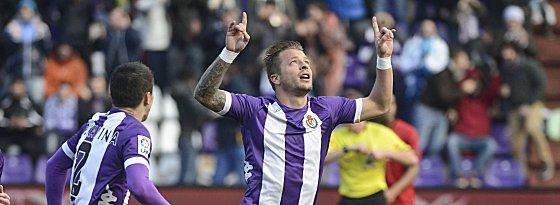 Sprungbrett Valladolid: Patrick Ebert ist wohl auf dem Sprung zu Atletico (li. Rukavina).