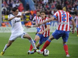 Entschied das Madrid-Derby: Angel di Maria (li.).