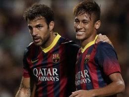 Neymar und Cesc Fabregas